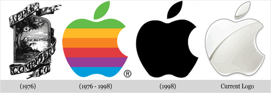 History Of The Apple Logo Design  inkbotdesigncom